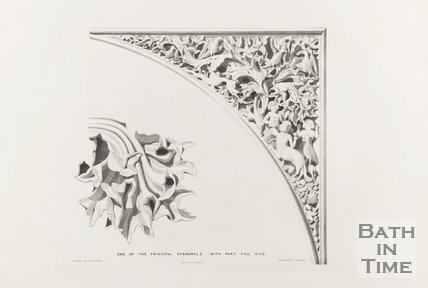 One of the principle Spandrels (with part full size), Bath Abbey 1834