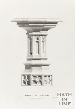 Pedestal under Canopy, Bath Abbey 1834