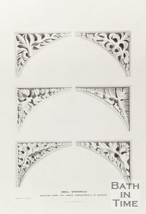 Small Spandrels selected from the lower compartments of Windows, Bath Abbey 1834