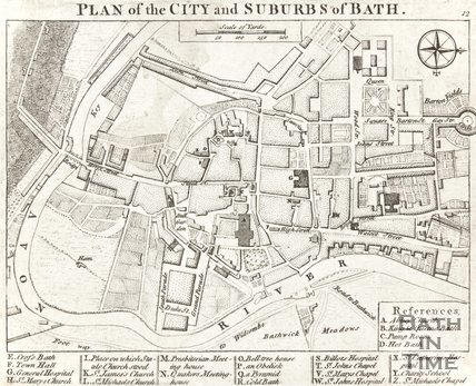 A Plan of the City and Suburbs of Bath, c.1780