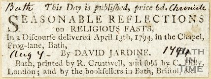 Seasonal Reflections on Religious Fasts August 7th 1794
