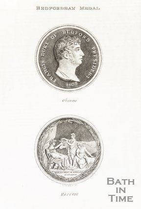 Engraving of Bedfordean Medal