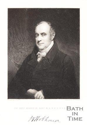 Engraving Sir Benj. Hobhouse BART. M.A. F.R.S. F.S.A. F.L.S.