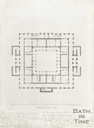 Plan of Basement Storey of the Pump Room and Kings Bath c.1781
