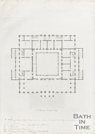 A Plan of the Principal Storey of the Pump Room and Kings Bath c.1781