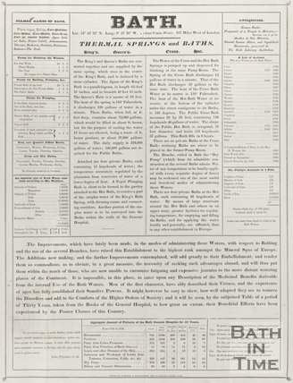 Poster Advertising Thermal Springs and Baths c.1830