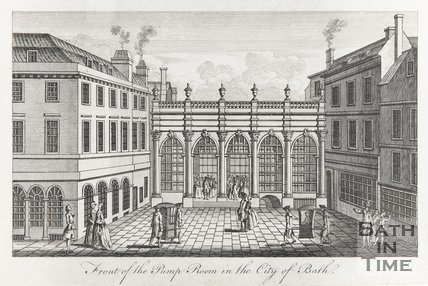 The Front of the Pump Room in the City of Bath 1765?