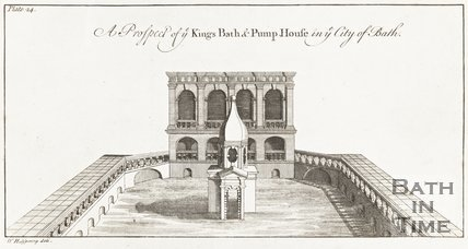 Kings Bath and Pump House in the City of Bath 1731