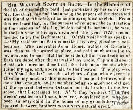 Sir Walter Scott in Bath