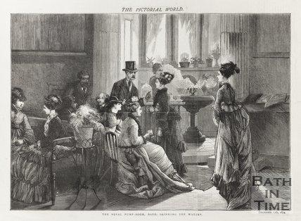 Engraving Royal Pump Room, Bath December 12th 1874