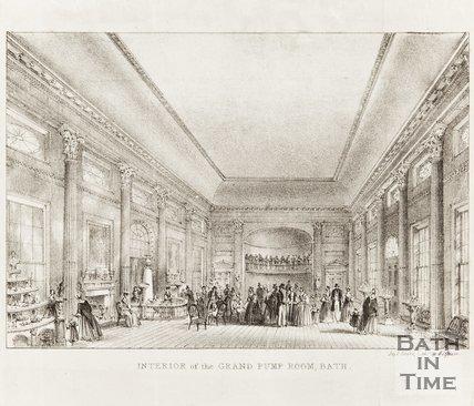 Interior of the Grand Pump Room Bath 1843