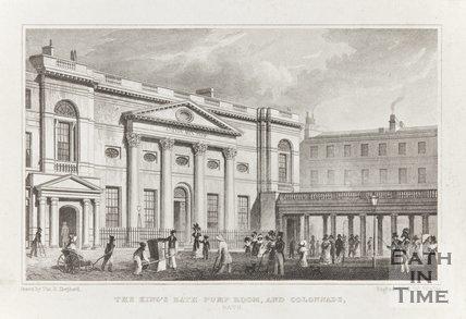 Kings Bath Pump Room and Colonnade Bath 1829