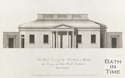 West Front of Hot Baths at Bath 1777
