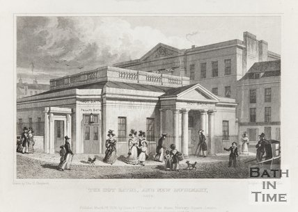 Engraving Hot Baths and New Infirmary March 28th 1829