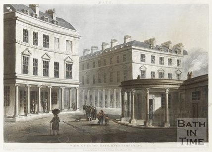 View of Cross Bath, Bath Street November 1804