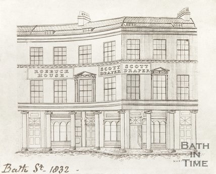 Bath Street as it joins Stall Street, 1832