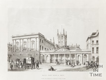 Bath Pump Rooms &c Bath 1837