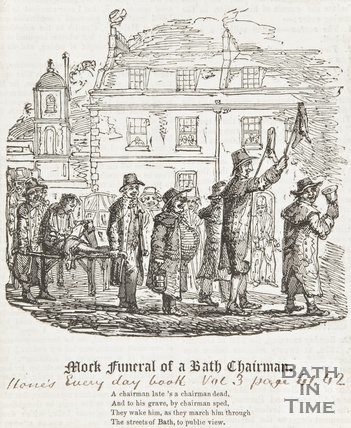 Mock Funeral of a Bath Chairman