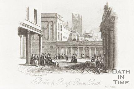 Baths and Pump Rooms, Bath November 7th 1842