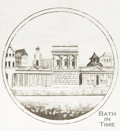 The entrance to the Baths, Stall Street, 1810?