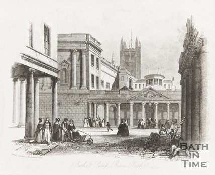 Bath and Pump Room, Bath May 1847