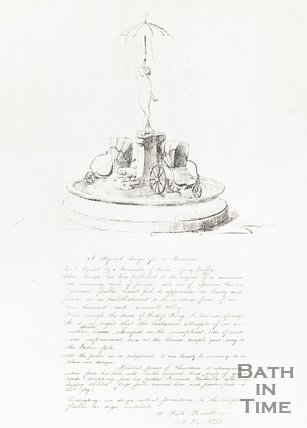 Sketch of a rejected design for a fountain, October 24th 1855