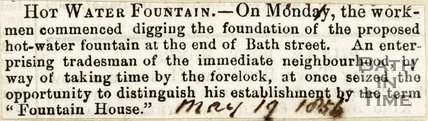 Hot Water Fountain May 19th 1854