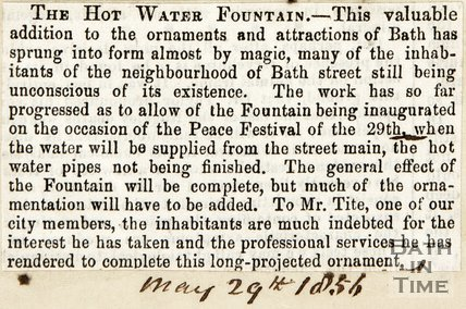 The Hot Water Fountain May 29th 1856
