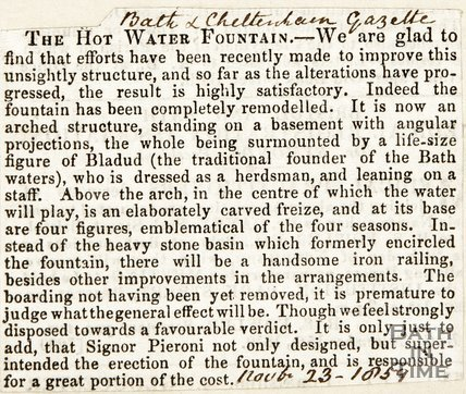 The Hot Water Fountain November 23rd 1859