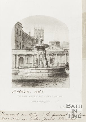 Bath Mineral Hot Water Fountain 1857