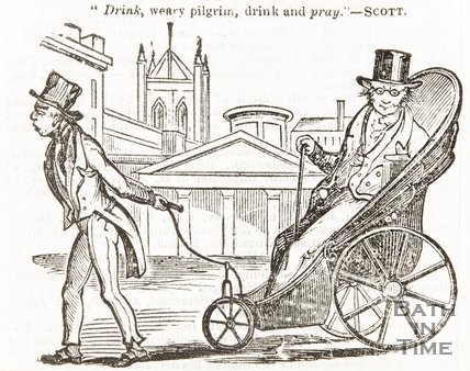 Cartoon Engraving 'Drink, Weary pilgrim, drink and pray' - Scott