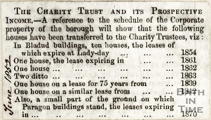 The Charity Trust and its perspective income June 1852