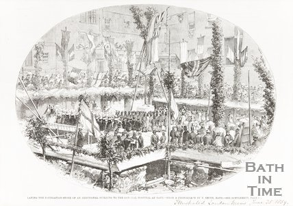Laying the Foundation Stone of an additional building to the General Hospital Bath June 25th 1859
