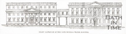 Front Elevation The Bath Mineral Water Hospital June 25th 1859