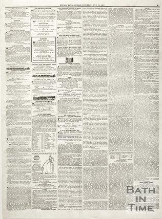Keene's' Bath Journal July 13th 1861