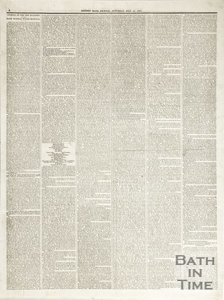 Keene's' Bath Journal July 13th 1861 verso