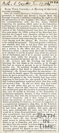 Bath Town Council Minutes from Meeting June 27th 1849