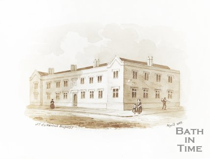 Watercolour of St. Catherine's Hospital April 1851