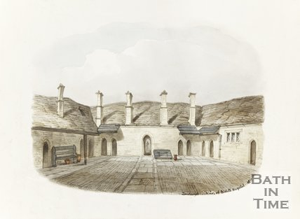 The interior of Bellotts Hospital Courtyard, 1851