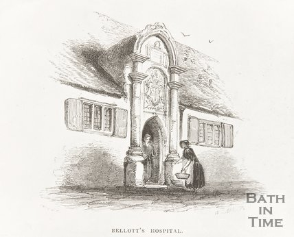 Engraving Bellotts Hospital 1848