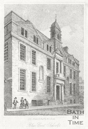 Engraving Blue Coat School, Saw Close 1819