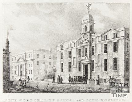 The Blue Coat Charity School and Bath Hospital, Upper Borough Walls, 1830