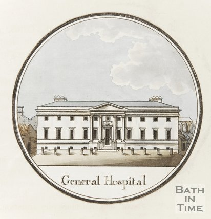 General Hospital, The Mineral Hospital, Upper Borough Walls, Bath, tinted 1st March 1793