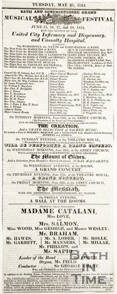Advert Bath and Somersetshire Tuesday May 25th 1824