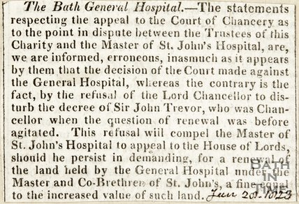 The Bath General Hospital June 20th 1824