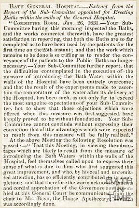Bath General Hospital 1831