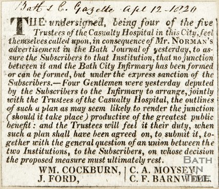 Response to Mr Normans advertisement April 13th 1820