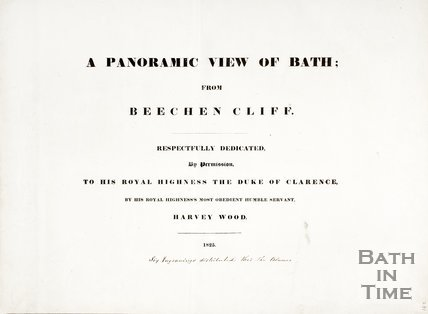 The Title Page of A Panoramic View of Bath; from Beechen Cliff 1824