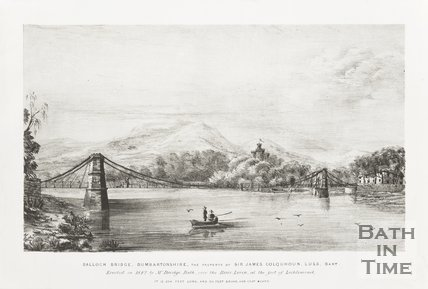 Engraving of Balloch Bridge in Dunbartonshire 1842