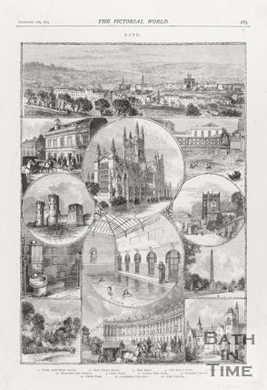 Collection of Annotated Engravings of Bath December 12th 1874